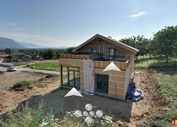 Maison en ossature bois à Saint Jean de Moirans (Communauté de communes du Pays Voironnais)