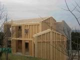 Construction d'une maison ossature bois niveau BBC à Serpaize (Communauté de communes du Pays Viennois)