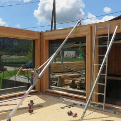 Visite d'un chantier de construction maison performante à Saint-Etienne-de-Crossey le 29/10/2016