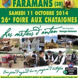 Fête de la chataigne à Faramans le 11/10 : animation spéciale fête de l'énergie