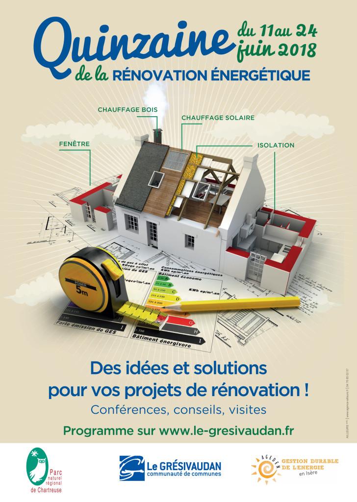 Quinzaine de la rénovation énergétique en Grésivaudan du 11 au 24 juin 2018