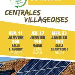 Réunions Les Abrets en Dauphiné – Centrales Villageoises les 11, 17 et 23 janvier 2019