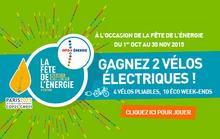 Grand jeu fête de l'énergie – 2 vélos électriques à gagner jusqu'au 30 novembre