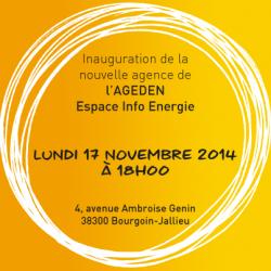 Inauguration de la nouvelle agence AGEDEN à Bourgoin-Jallieu le 17 novembre 2014