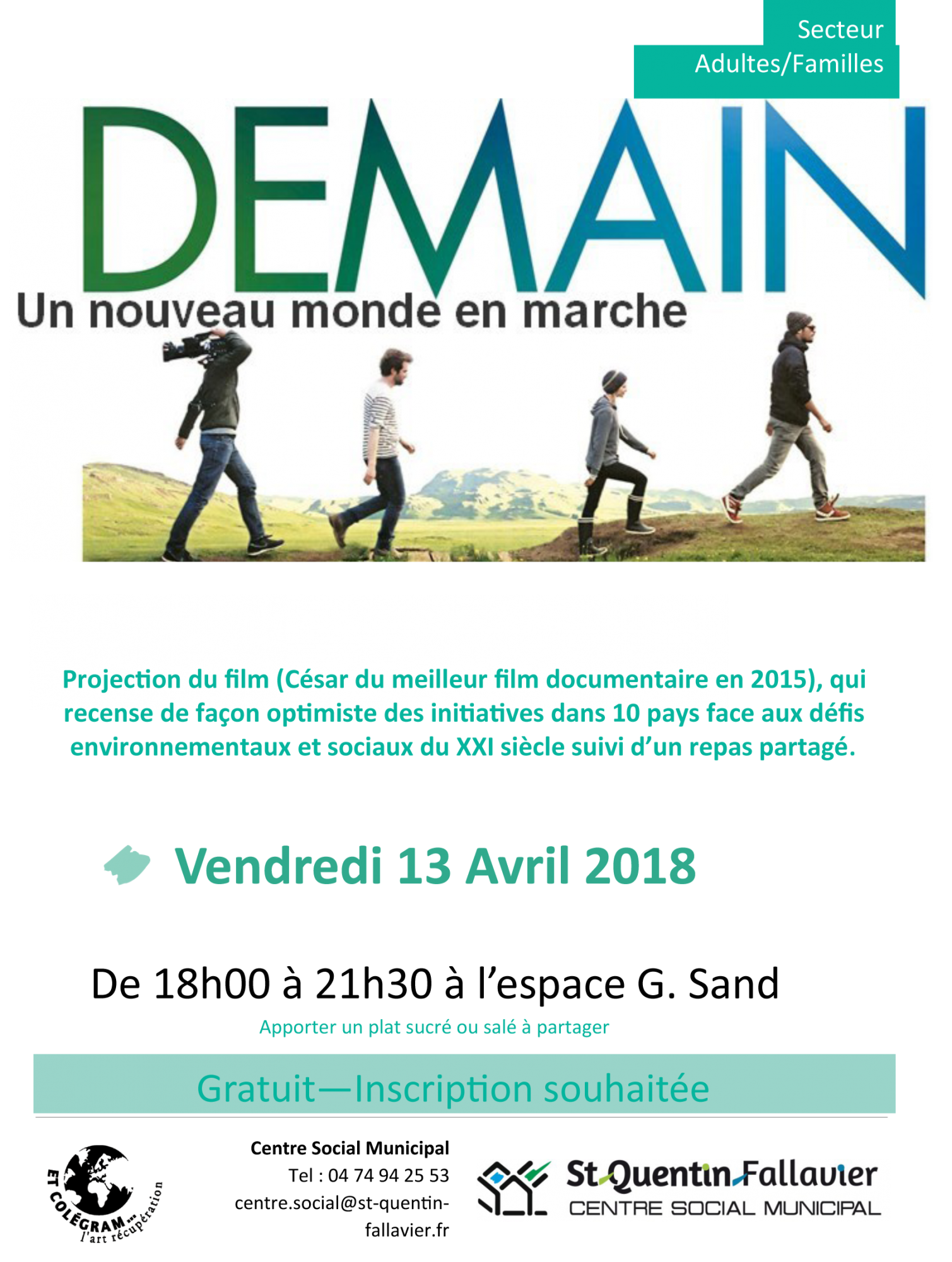Projection du film « DEMAIN » à Saint-Quentin-Fallavier