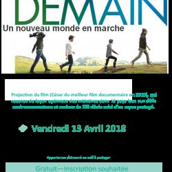 Projection du film «DEMAIN» à Saint-Quentin-Fallavier
