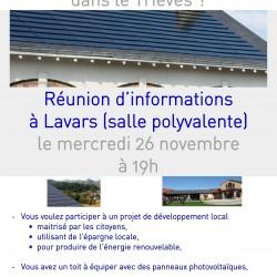 Réunion d'informations sur les centrales villageoises à Lavars