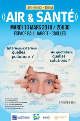 Conférence-débat «Air & Santé» à Crolles le 13 mars