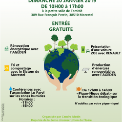 Dimanche 20 janvier 2019 : Journée transition écologique à Morestel